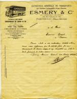PARTHENAY. - ESMERY & Cie. - DEMENAGEMENTS - Transport
