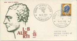 ITALIA - FDC VENETIA 1972 - LEON BATTISTA ALBERTI - VIAGGIATA PER VENEZIA - 6. 1946-.. Repubblica