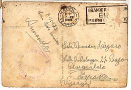CARTE POSTALE  ITALI (NAPLES) - ESPAGNE - CENSURE BILBAO - 1939 - - Marcas De Censura Nacional