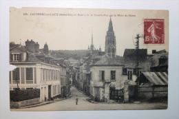 CPA - CAUDEBEC EN CAUX Entrée De La Grande Rue Par La Place Du Havre -   - Ccc - Caudebec-en-Caux