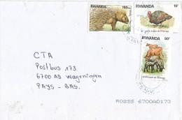 Rwanda 1978 Sheep Cow Turkey Porcepine Cover - 1970-79: Afgestempeld
