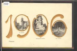 PEZENAS - MILLESIME 1906 - CARTE EN RELIEF - TB - Pezenas