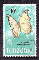 Farfalla- 10'-Tanzania 1973   -Usato - Schmetterlinge