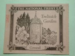 TRELISSICK GARDEN Cornwall - The National Trust N° 19452 Membership ! - Actions & Titres