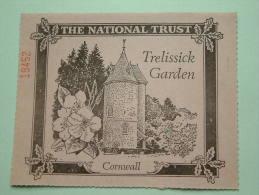 TRELISSICK GARDEN Cornwall - The National Trust N° 19452 Membership ! - Shareholdings