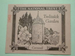 TRELISSICK GARDEN Cornwall - The National Trust N° 19453 Membership ! - Actions & Titres