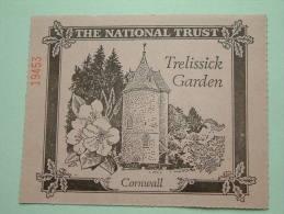 TRELISSICK GARDEN Cornwall - The National Trust N° 19453 Membership ! - Shareholdings