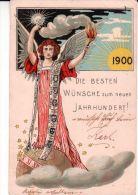 Jubilaeums-Karte Zur Jahrhundertwende  ,  1900 - Nouvel An