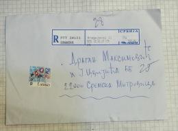 R - Registered Letter Used 12.12. 2012 / Recommended Label KRAGUJEVAC (Serbia) Envelope / Serbia Handball Federation - Serbia