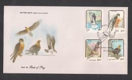 INDIA, 1992,  FDC,   Eagle Falcon Osprey Lammergeier Bombay Cancellation - FDC