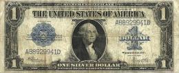 USA UNITED STATES $1 SILVER CERTIFICATE BLUE SEAL SERIES 1923 F P342 READ DESCRIPTION CAREFULLY !!! - Silver Certificates (1878-1923)