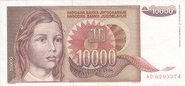 10.000 DINARA 1992   AD 6293374 - Yougoslavie