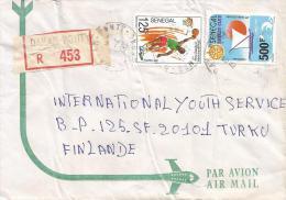 Senegal 1992 Dakar Ponty Basketball Rotary Sailing Cover - Senegal (1960-...)