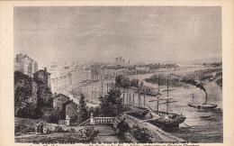 Thematiques 44 Loire Atlantique Nantes Ancien Vue De La Ville Et Du Port Prise De L'Hermitage Vers 1840 - Nantes