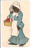 Illust - B - Femme Noir Avec Son Panier. - Illustrateurs & Photographes
