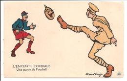 Illust - MASS BOEUF - L'ENTENTE CORDIALE - Une Partie De Football - Mass'Boeuf