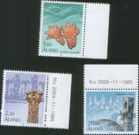 Aland 1986 Serie Storica 3v Complete Set ** MNH - Aland