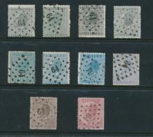 859/21 - Emission 1865 - Petite Collection De 10 Losanges De Points 64 BRUX OUEST MOLENBEEK - Postmarks - Points