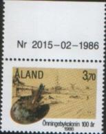 Aland 1986 100° Scuola Pittura Di Onningeby 1v Complete Set ** MNH - Aland