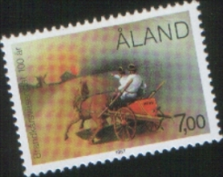 Aland 1987 100° Corpo Dei Pompieri 1v Complete Set ** MNH - Aland