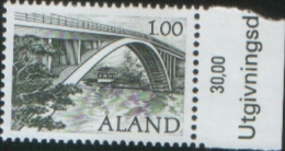 Aland 1987 Ponte Di Farjsund - Farjsund Bridge 1v Complete Set ** MNH - Aland