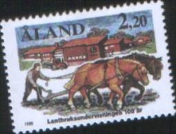 Aland 1988 100th ANNIVERSARY OF Agricultural School In Haga 100 Scuola Di Agraria Ad Haga 1v Complete Set ** MNH - Aland