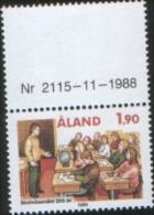 Aland 1989 350th School In Aland  - 350 Dell'istituzione Della Scuola In Aland 1v  Complete Set ** MNH - Aland