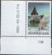 Aland 1989 Finstrom Church - Chiesa Di Finstrom 1v  Complete Set ** MNH - Aland