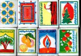 Algerie-8 étiquettes De Boites D´allumettes - Boites D'allumettes - Etiquettes
