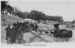 75 PARIS-Vécu Pêcheurs Parisiens Gros Plan Du Bateau N° 80 Reproduction - Petits Métiers à Paris