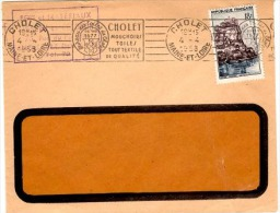 TEX-L20 - FRANCE Flamme En Continu De CHOLET - Mouchoirs, Toiles, Tout Textile De Qualité 1958 - Textile