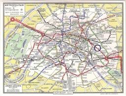 METROPOLITAIN DE PARIS (Plan Du Réseau, Offert Par L'Hôtel Place-Voltaire (1971) - Direction, R. CLOUET. - Europe