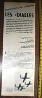 DOCUMENT CONCERNANT LES DIABLES ROUGES PATROUILLE AVIATION DE BELGIQUE A BRUSTEM - Old Paper