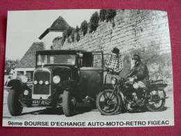 ** 9° Bourse Echanges Auto Moto Retro FIGEAC / Citroën C4 A 1929 & Terrot 250,1928. - Figeac
