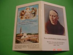 Padre LEONARDO MARIA BELLO Francescano Madonna Dei MIRACOLI - Veduta Santuario MOTTA Di LIVENZA Treviso - Santino - Images Religieuses