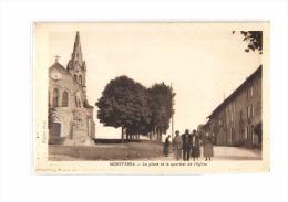 38 MONTFERRAT (envs St Geoire En Valdaine) Place, Quartier De L'Eglise, Animée, Ed Jayet, 1932 - France