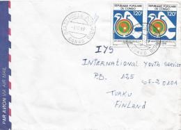 Congo 1989 Brazzaville Poto Poto Pigeon Dove Bird African Union Cover - Congo - Brazzaville
