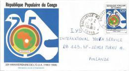 Congo 1990 Brazzaville Maya Maya Pigeon Dove Bird African Union FDC Cover - Congo - Brazzaville