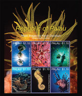 MINT N.H PALAU 1171 # IGPC 1320 SH :  STAMPS OF MARINE LIFE ; FISH - Palau