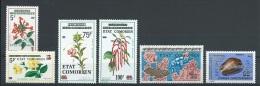 1975  Komoren Überdrucke Lot Mi.-Nr.  212, 237....** MNH - Komoren (1975-...)
