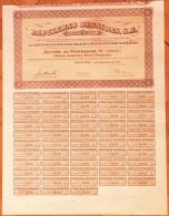 1974-PAPELERAS REUNIDAS. ALCOY. ALICANTE. ESPAÑA- ACCIÓN CON TODOS SUS CUPONES DEL AÑO 1974 - Industrial