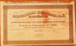 1947-PAPELERAS REUNIDAS. ALCOY. ALICANTE. ESPAÑA- ACCIÓN  DEL AÑO 1947 - Industrial