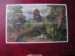 ==  Tansanie Block Dinos ** MNH - Tansania (1964-...)