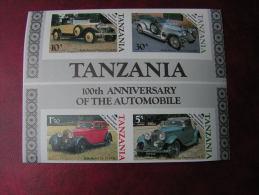 ==  Tansanie Block Autos , Verschoben ...??   ** MNH - Tansania (1964-...)