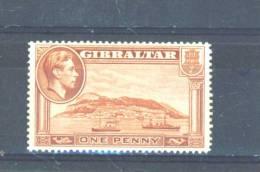 GIBRALTAR  -  1938/52  George VI  1d  MM - Gibraltar