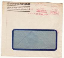 Enveloppe Lettre Pompes Guinard St Cloud 1950 - Storia Postale