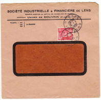 Enveloppe Lettre Société Industrielle & Financière De Lens Usine De Douvrin 1951 - Storia Postale