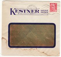 Enveloppe Lettre KESTNER LILLE FRANCE - Postmark Collection (Covers)