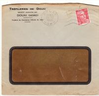 Enveloppe Lettre Tréfileries De Douai 1950 - Postmark Collection (Covers)