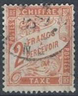 FRANCE - 2 F. Duval Orange Oblitéré - Taxes